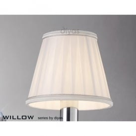 Willow Small White Pleated Candle Clip Shade