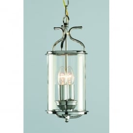 Winchester 2 Light Indoor Ceiling Lantern Pendant In Polished Chrome Finish