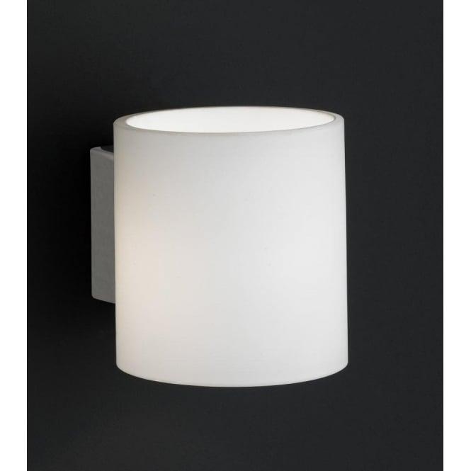 cccf9f08594 Wofi Aqaba Matt Nickel Halogen Switched Wall Light With Opal Glass ...