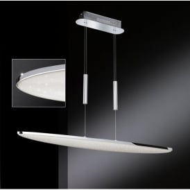 Galax/Serie 587 Single LED Rise and Fall Ceiling Pendant in Polished Chrome Finish