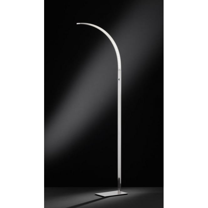 Wofi luzserie 682 single led dimmable floor lamp in matt nickel luzserie 682 single led dimmable floor lamp in matt nickel finish aloadofball Image collections