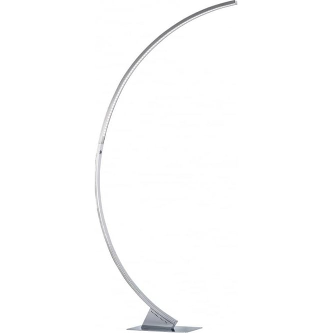 Wofi luzserie 682 single led dimmable floor lamp in polished chrome luzserie 682 single led dimmable floor lamp in polished chrome finish aloadofball Image collections
