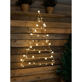 Wooden Pyramid with 48 Warm White LED's