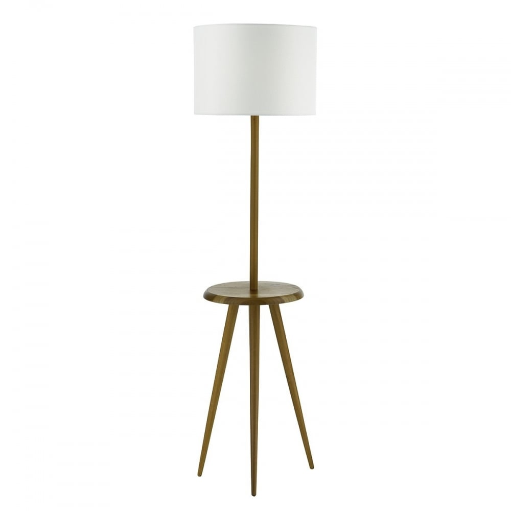 dar lighting wycombe single light wooden table and floor lamp base only in walnut ash finish. Black Bedroom Furniture Sets. Home Design Ideas