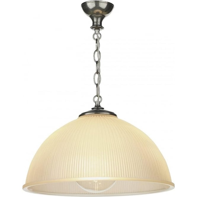 David Hunt Lighting Yeats Single Light Ceiling Pendant in Pewter Finish with Satin Glass