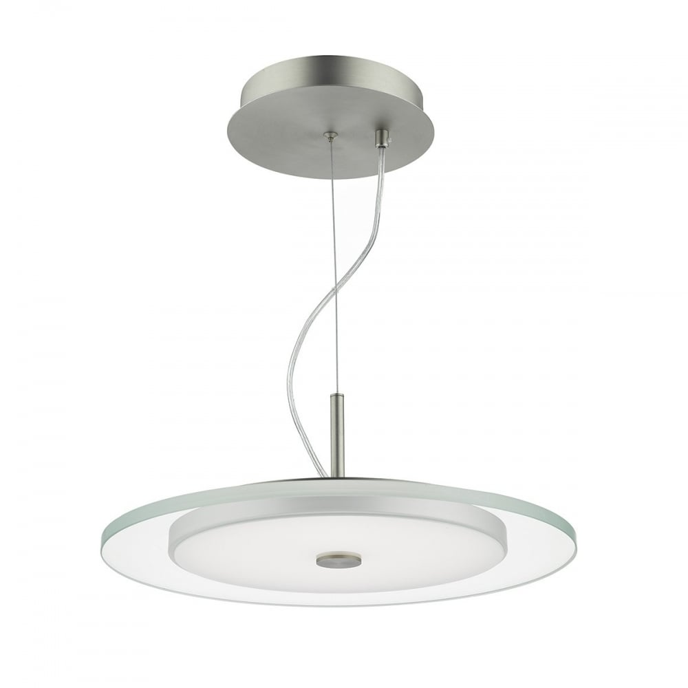 Dar lighting zermatt single light led ceiling pendant in - Clear glass ceiling light ...